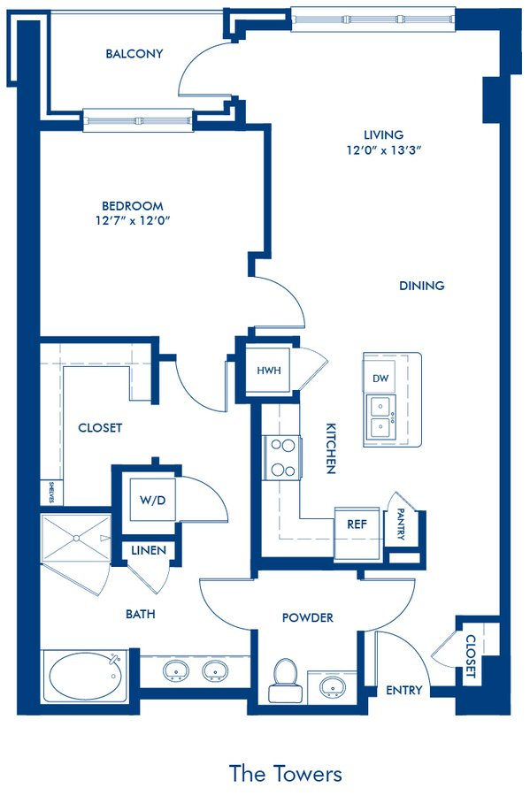 1 Bedroom 1 Bathroom Apartment for rent at Camden Paces in Atlanta, GA