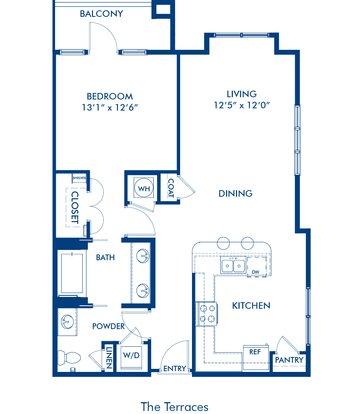 1 Bedroom 1 Bathroom Apartment for rent at Camden Paces in Atlanta, GA
