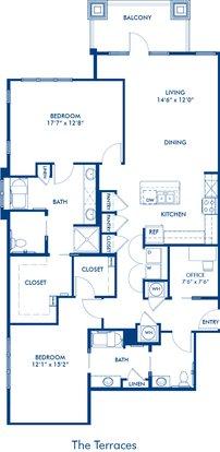 2 Bedrooms 2 Bathrooms Apartment for rent at Camden Paces in Atlanta, GA