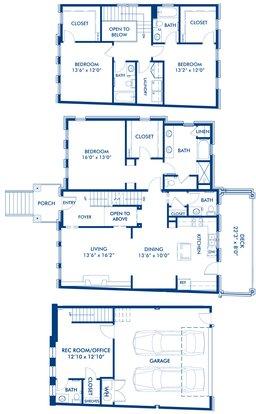 3 Bedrooms 3 Bathrooms Apartment for rent at Camden Paces in Atlanta, GA