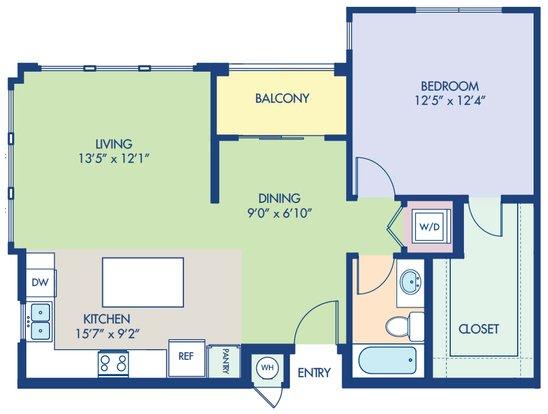 1 Bedroom 1 Bathroom Apartment for rent at Camden Foothills in Scottsdale, AZ