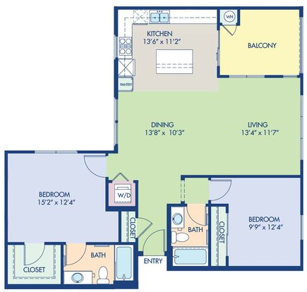 2 Bedrooms 2 Bathrooms Apartment for rent at Camden Foothills in Scottsdale, AZ