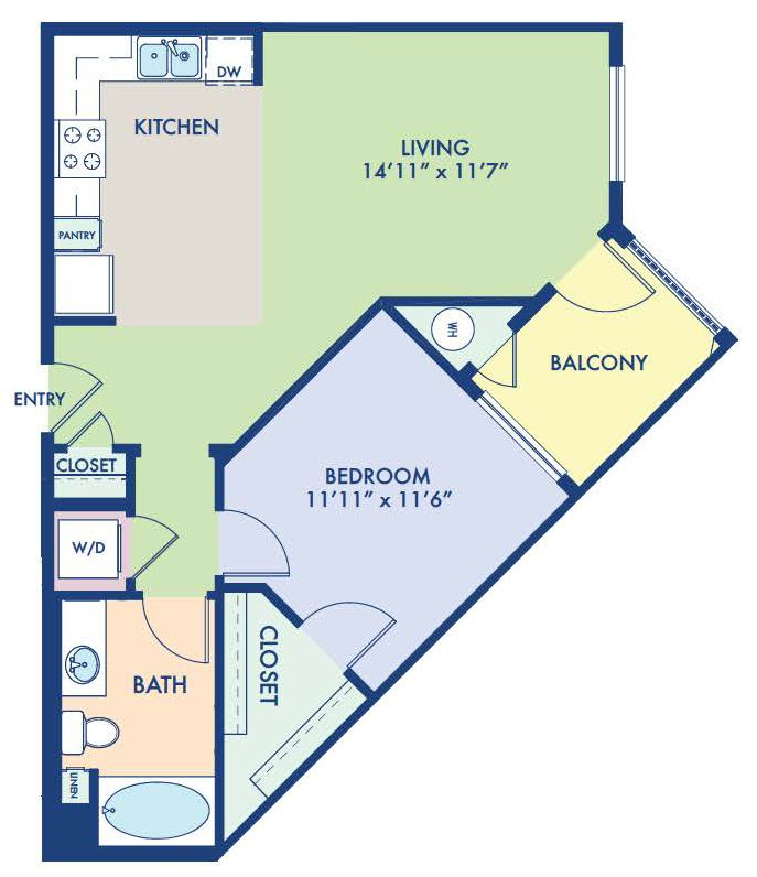 1 Bedroom 1 Bathroom Apartment for rent at Camden Hayden in Tempe, AZ