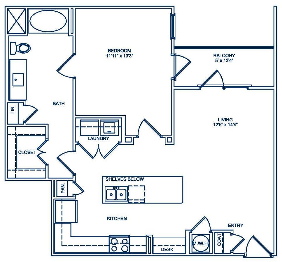 1 Bedroom 1 Bathroom Apartment for rent at Camden Fourth Ward in Atlanta, GA