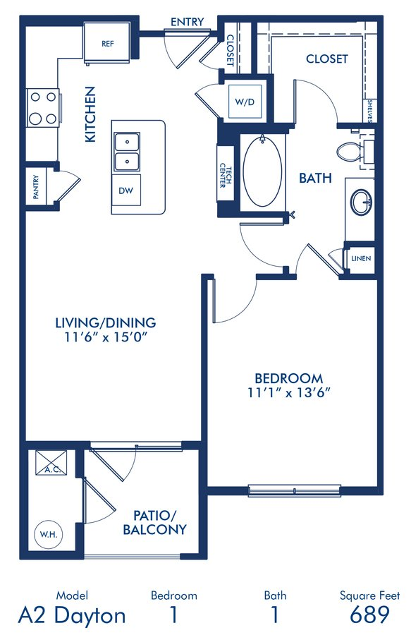 1 Bedroom 1 Bathroom Apartment for rent at Camden Lincoln Station in Lone Tree, CO