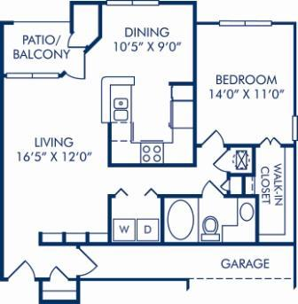 1 Bedroom 1 Bathroom Apartment for rent at Camden Addison in Addison, TX