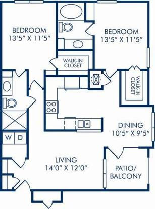 2 Bedrooms 2 Bathrooms Apartment for rent at Camden Addison in Addison, TX