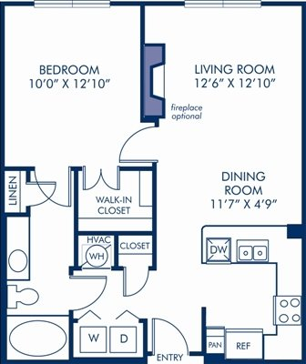 1 Bedroom 1 Bathroom Apartment for rent at Camden South End in Charlotte, NC
