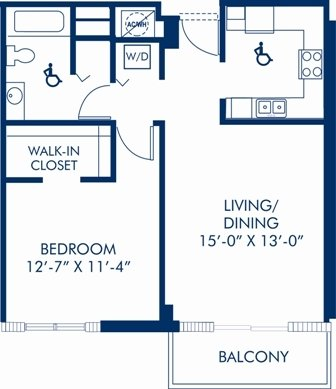 1 Bedroom 1 Bathroom Apartment for rent at Camden Brickell in Miami, FL