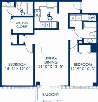 2 Bedrooms 2 Bathrooms Apartment for rent at Camden Brickell in Miami, FL
