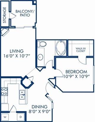 1 Bedroom 1 Bathroom Apartment for rent at Camden San Paloma in Scottsdale, AZ