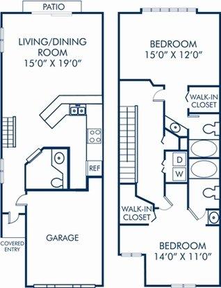 2 Bedrooms 2 Bathrooms Apartment for rent at Camden Plantation in Plantation, FL