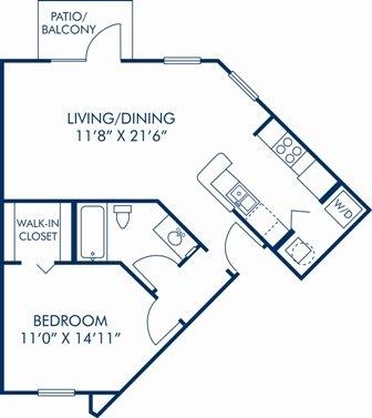1 Bedroom 1 Bathroom Apartment for rent at Camden Lee Vista in Orlando, FL