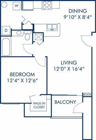1 Bedroom 1 Bathroom Apartment for rent at Camden World Gateway in Orlando, FL