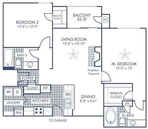 2 Bedrooms 2 Bathrooms Apartment for rent at Camden Stoneleigh in Austin, TX