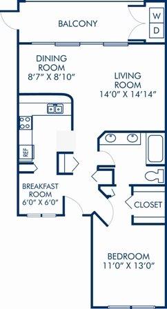 1 Bedroom 1 Bathroom Apartment for rent at Camden Portofino in Pembroke Pines, FL