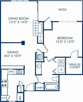 1 Bedroom 1 Bathroom Apartment for rent at Camden Fairview in Charlotte, NC