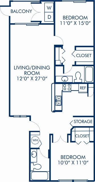 2 Bedrooms 2 Bathrooms Apartment for rent at Camden Portofino in Pembroke Pines, FL