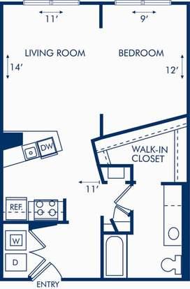 Studio 1 Bathroom Apartment for rent at Camden Brookwood in Atlanta, GA
