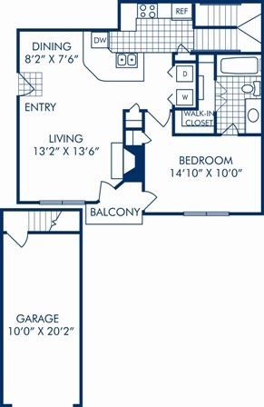 1 Bedroom 1 Bathroom Apartment for rent at Camden Legacy Creek in Plano, TX