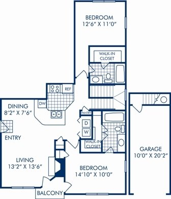 2 Bedrooms 2 Bathrooms Apartment for rent at Camden Legacy Creek in Plano, TX