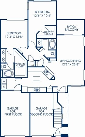2 Bedrooms 2 Bathrooms Apartment for rent at Camden Legacy in Scottsdale, AZ