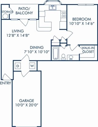 1 Bedroom 1 Bathroom Apartment for rent at Camden Legacy Park in Plano, TX