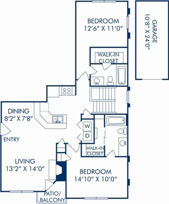 2 Bedrooms 2 Bathrooms Apartment for rent at Camden Legacy Park in Plano, TX