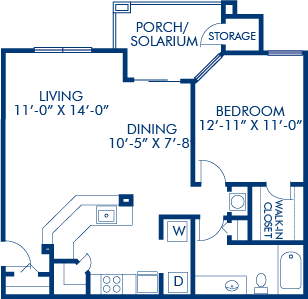 1 Bedroom 1 Bathroom Apartment for rent at Camden Bay in Tampa, FL