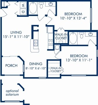 2 Bedrooms 2 Bathrooms Apartment for rent at Camden Bay in Tampa, FL