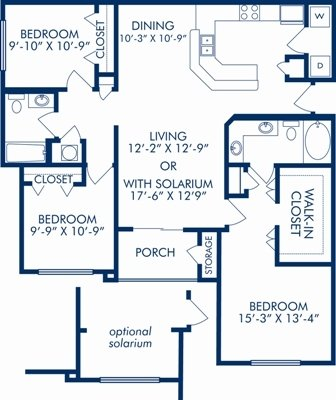 3 Bedrooms 2 Bathrooms Apartment for rent at Camden Bay in Tampa, FL