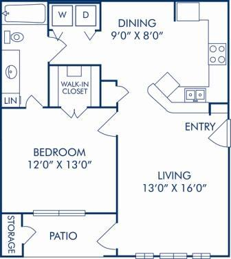 1 Bedroom 1 Bathroom Apartment for rent at Camden Centreport in Fort Worth, TX