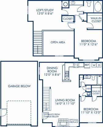 2 Bedrooms 2 Bathrooms Apartment for rent at Camden Lake Pine in Apex, NC