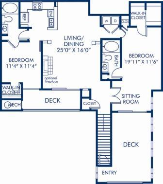 2 Bedrooms 2 Bathrooms Apartment for rent at Camden Largo Town Center in Largo, MD