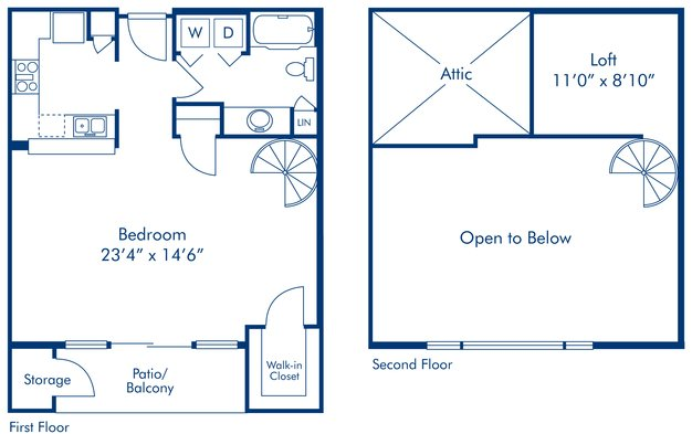 Studio 1 Bathroom Apartment for rent at Camden Copper Square in Phoenix, AZ