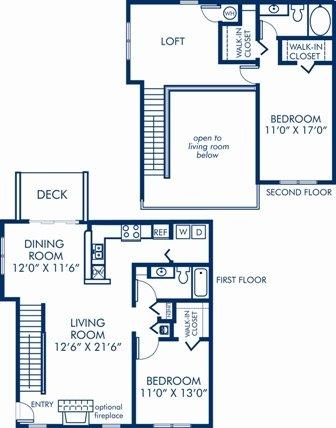 2 Bedrooms 2 Bathrooms Apartment for rent at Camden Sedgebrook in Huntersville, NC