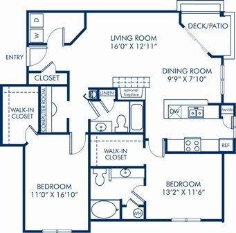 2 Bedrooms 2 Bathrooms Apartment for rent at Camden Sedgebrook in Huntersville, NC