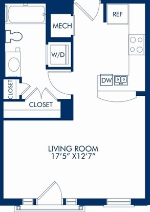 Studio 1 Bathroom Apartment for rent at Camden Grand Parc in Washington, DC