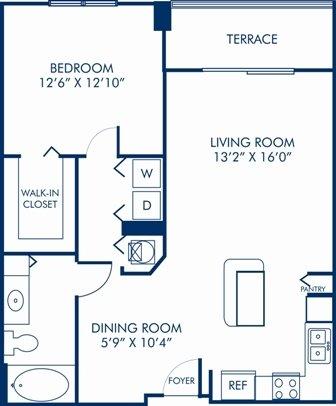 1 Bedroom 1 Bathroom Apartment for rent at Camden Las Olas in Fort Lauderdale, FL