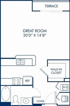 Studio 1 Bathroom Apartment for rent at Camden Las Olas in Fort Lauderdale, FL