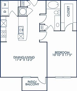 1 Bedroom 1 Bathroom Apartment for rent at Camden Orange Court in Orlando, FL