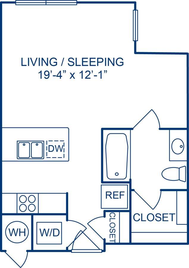 Studio 1 Bathroom Apartment for rent at Camden Monument Place in Fairfax, VA