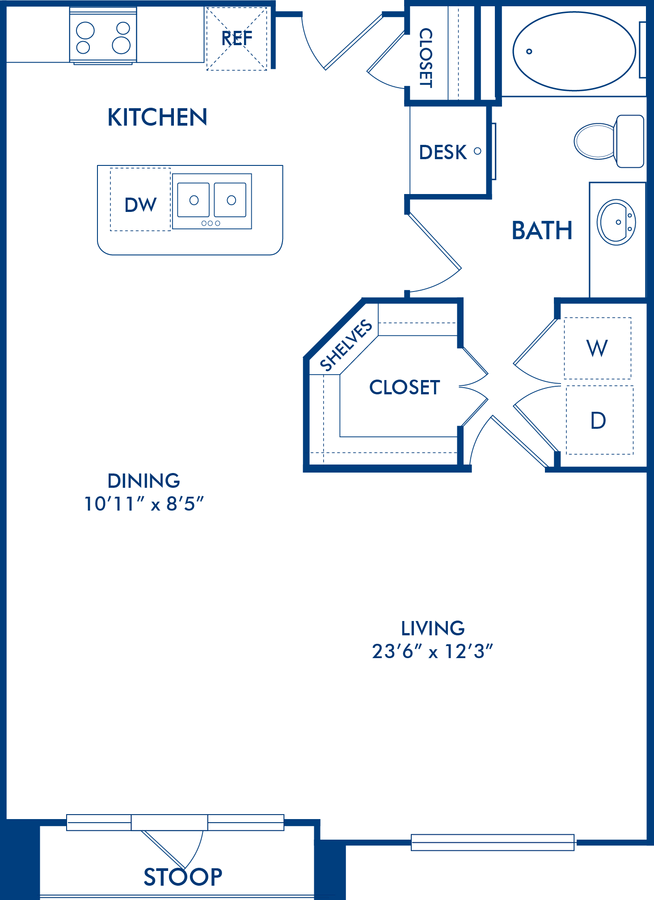 Studio 1 Bathroom Apartment for rent at Camden City Centre in Houston, TX