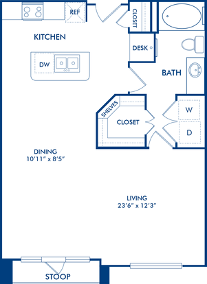 Studio 1 Bathroom Apartment for rent at Camden City Centre in Houston, TX