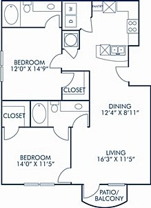 2 Bedrooms 2 Bathrooms Apartment for rent at Camden Orange Court in Orlando, FL