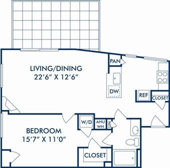 1 Bedroom 1 Bathroom Apartment for rent at Camden Potomac Yard in Arlington, VA