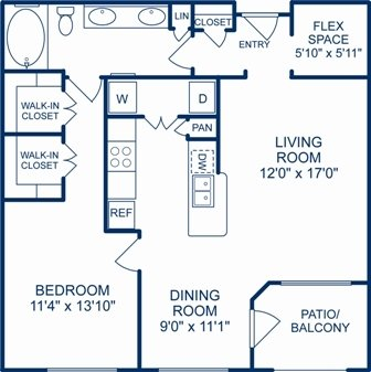 1 Bedroom 1 Bathroom Apartment for rent at Camden City Centre in Houston, TX