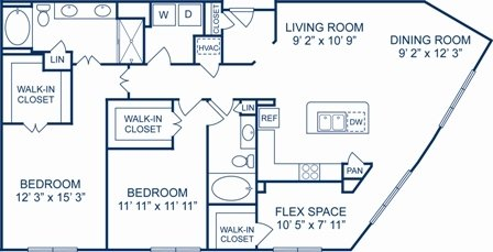 2 Bedrooms 2 Bathrooms Apartment for rent at Camden Plaza in Houston, TX