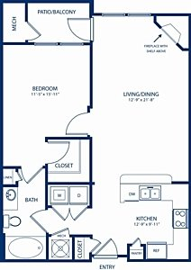 1 Bedroom 1 Bathroom Apartment for rent at Camden Dulles Station in Herndon, VA