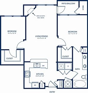2 Bedrooms 1 Bathroom Apartment for rent at Camden Dulles Station in Herndon, VA